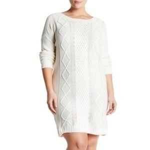 BB Dakota Cable Knit Long Sleeve Sweater Dress 1X